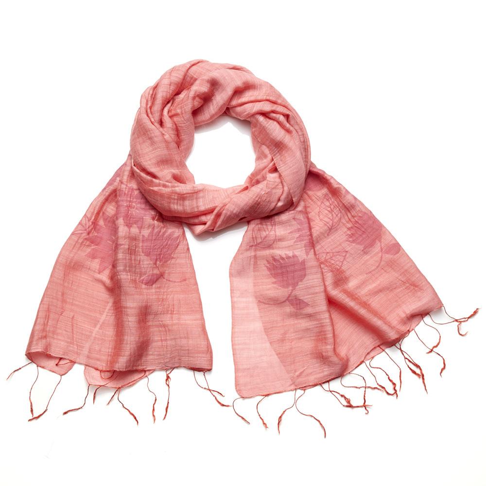 Lotus Scarf - Coral Pink