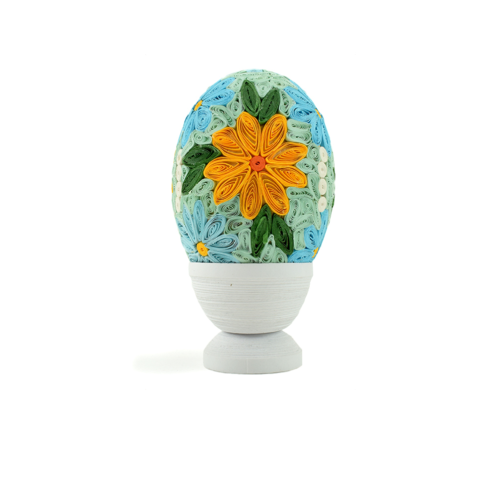 Quilled Grand Floral Egg