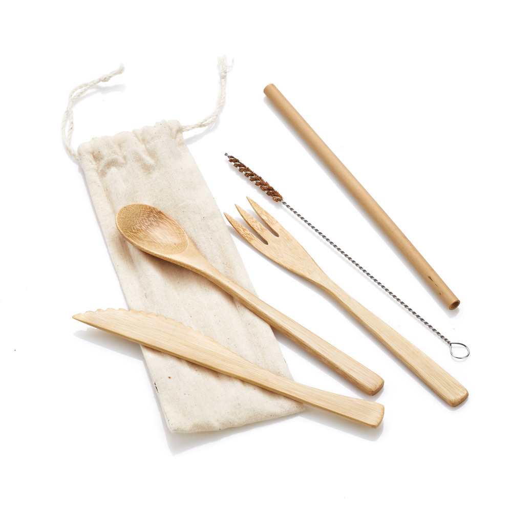 Bamboo Reusable Utensils Set
