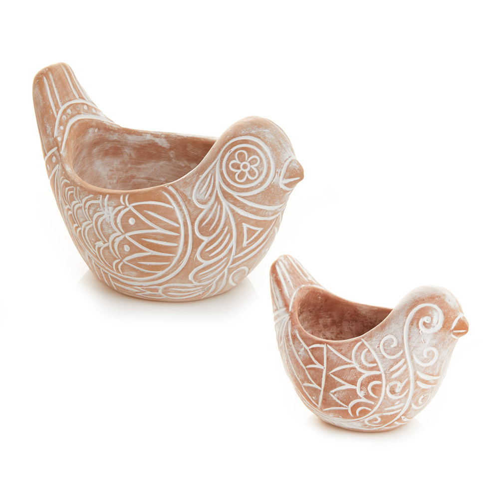 Bird Planters - Set of 2
