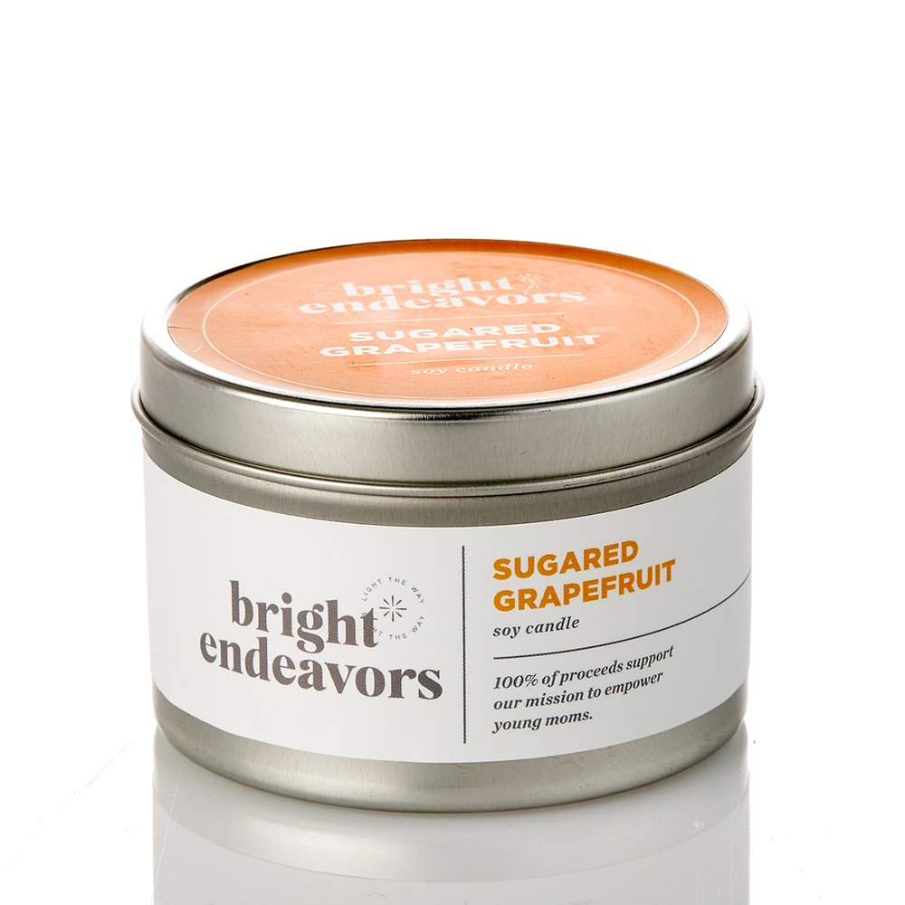 Sugared Grapefruit Candles