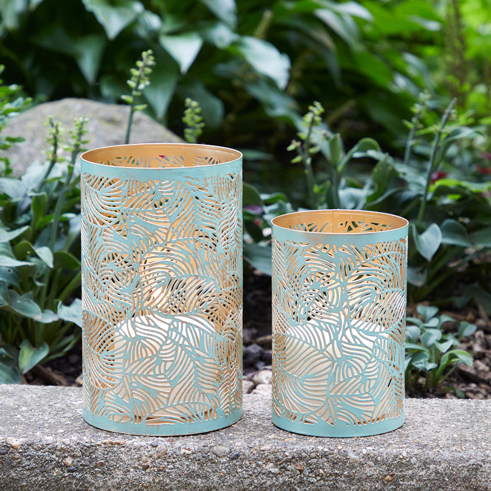 Green Botanical Lanterns