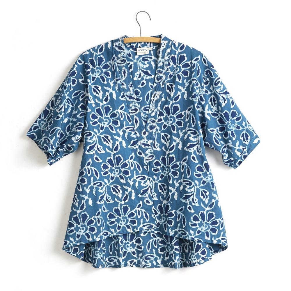 Sahara Kimono - Blue Floral