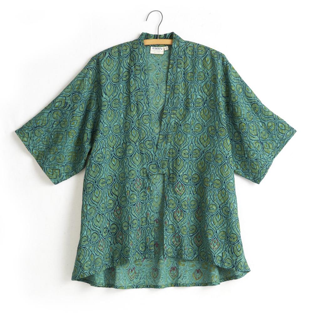 Sahara Kimono - Green Peacock