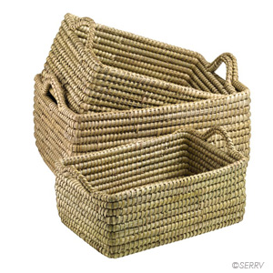 Handled Kaisa Basket  (XL) Set of 3