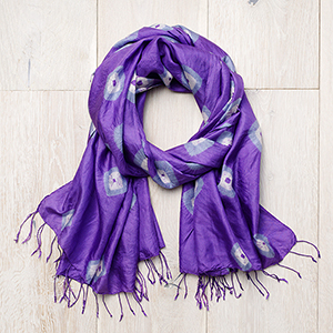 Violet Medallion Wrap