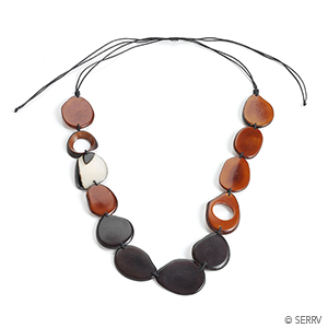 Black and Rust Tagua Necklace