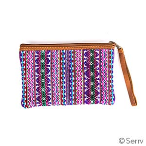 Medium Multi Leather Wristlet