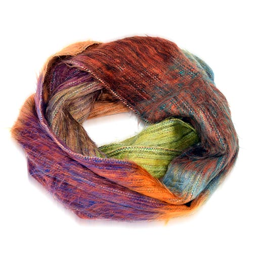 Multicolor Oversized Infinity Scarf