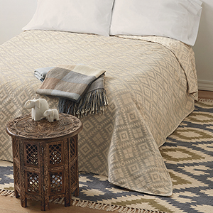 Dove Gray Diamond Bedcover