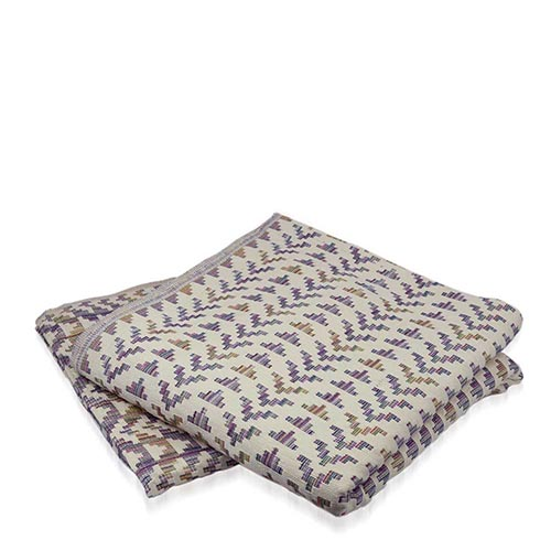 Natural & Multi Stepped Triangle Bedcover