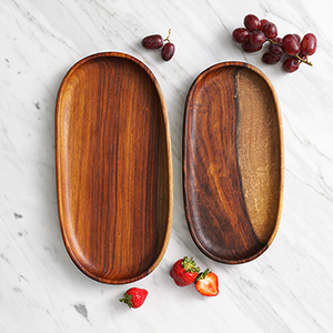 Shesham Oval Trays Set