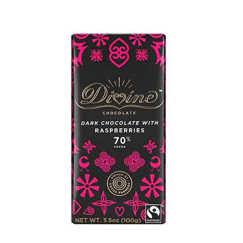 70% Dark Choc Raspberries Lg Bar Case