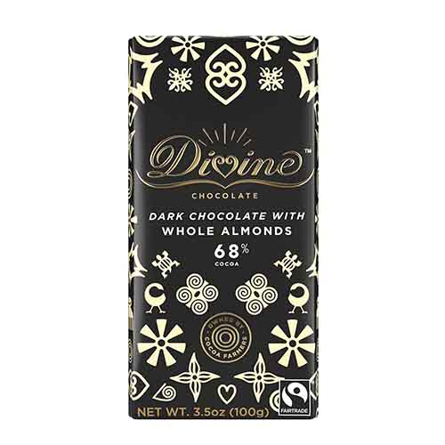 70% Dark Chocolate with Whole Almonds Large Bar Case