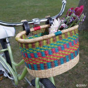 Rainbow Bike Basket
