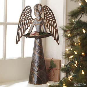 Recycled Metal Angel Décor