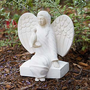 Stone Angel with Dove