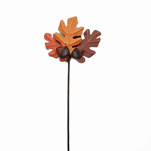 Acorn Leaves Garden Stakes