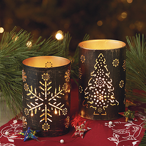 Christmas Tree Iron Lantern