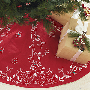 Doves of Peace Holiday Tree Skirt