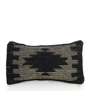 Black Stepped Diamond Lumbar Pillow