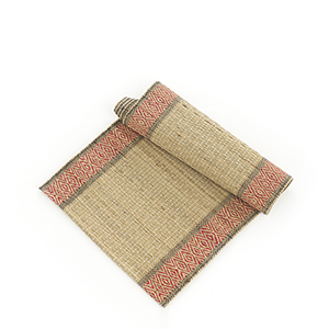 Red & Natural Madur Kathi Table Runner