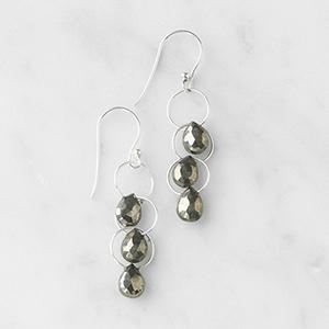 Pyrite Waterfall Earrings