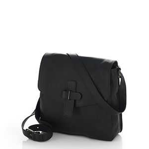 Black Kolkata Crossbody Bag
