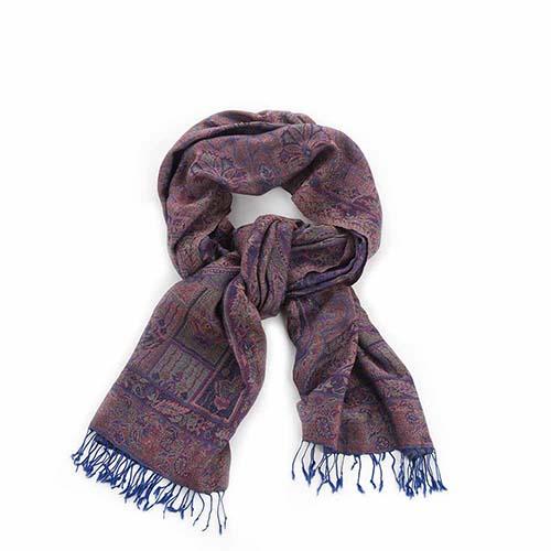 Kashmiri Shawl - Purple Paisley