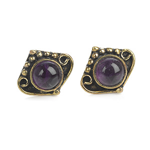 Indian Amethyst Earrings