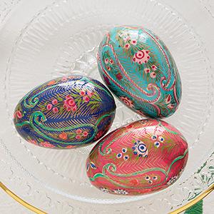 Feathered Paisley Kashmiri Eggs