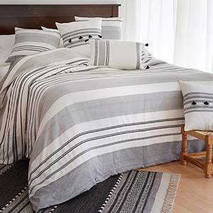 Bengali Stripe Queen Duvet Cover