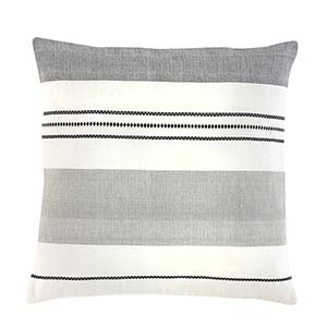 Bengali Stripe Square Pillow with Bold Stripe