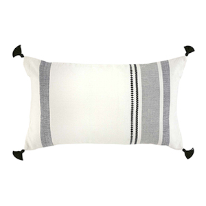 Bengali Stripe Lumbar Pillow with Tassels