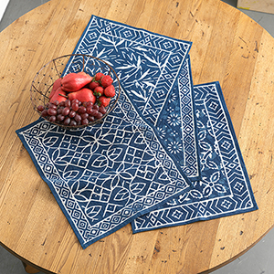 Dabu Block Print Placemats Set of 4