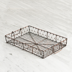 Wire Tray with Swing Handles