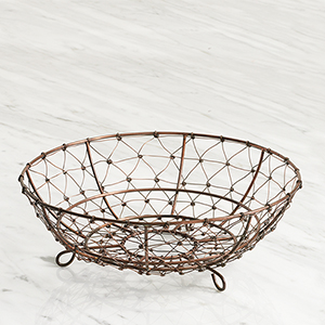 Wire Mesh Footed Bowl