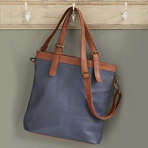 Slated Leather Bag