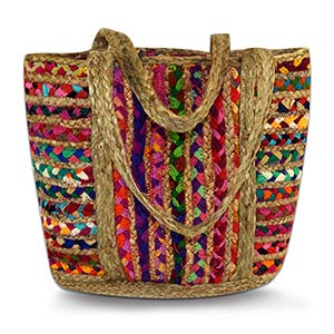 Multi-Colored Takeaway Tote