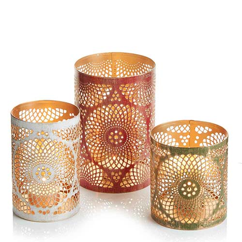 Mandala Holiday Lantern Set