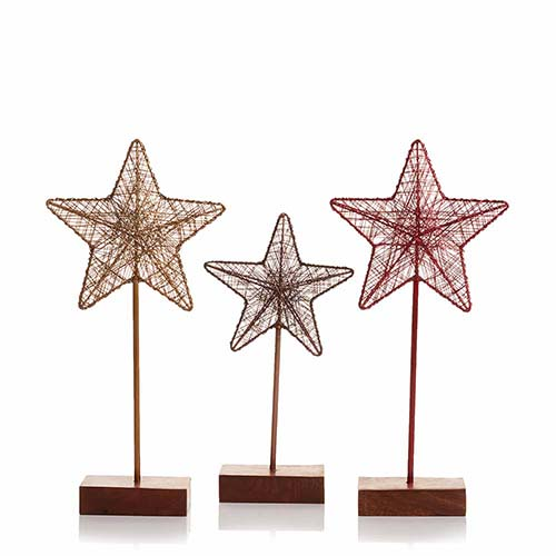 Festive Holiday Wire Stars