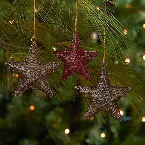 Wire Star Ornament Set