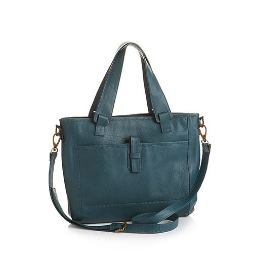 Teal All-For-One Leather Bag