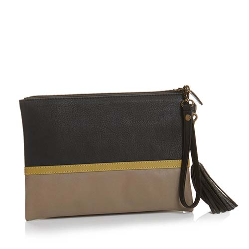 Signature Clutch - Black Colorblock