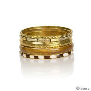 Gold Brassy Bangles Set