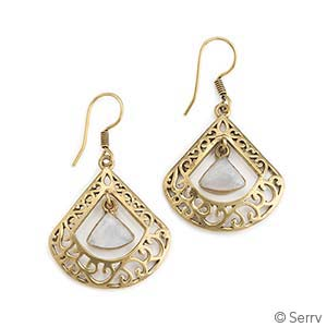 Moonstone Fan Earrings