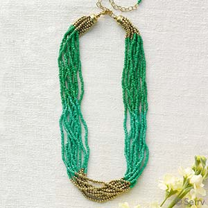 Spring Greens Necklace
