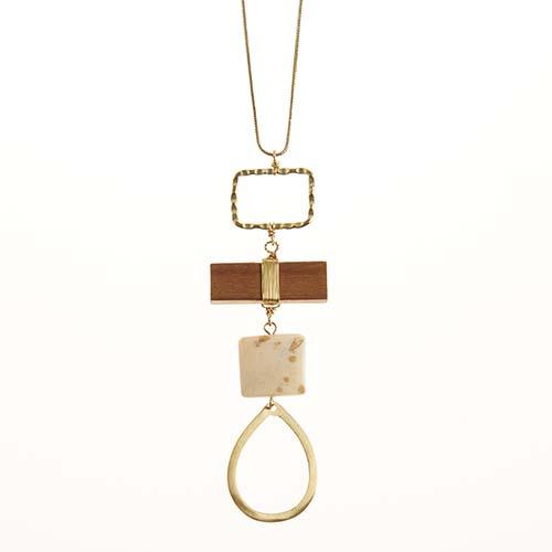 Long Teardrop Pendant Necklace
