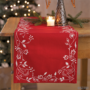 Doves of Peace Holiday Table Runner