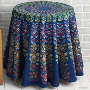 Blue Bandhook Tablecloth